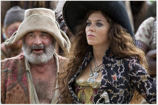 Bob Hoskins as Smee and Anna Friel as Captain Bonny