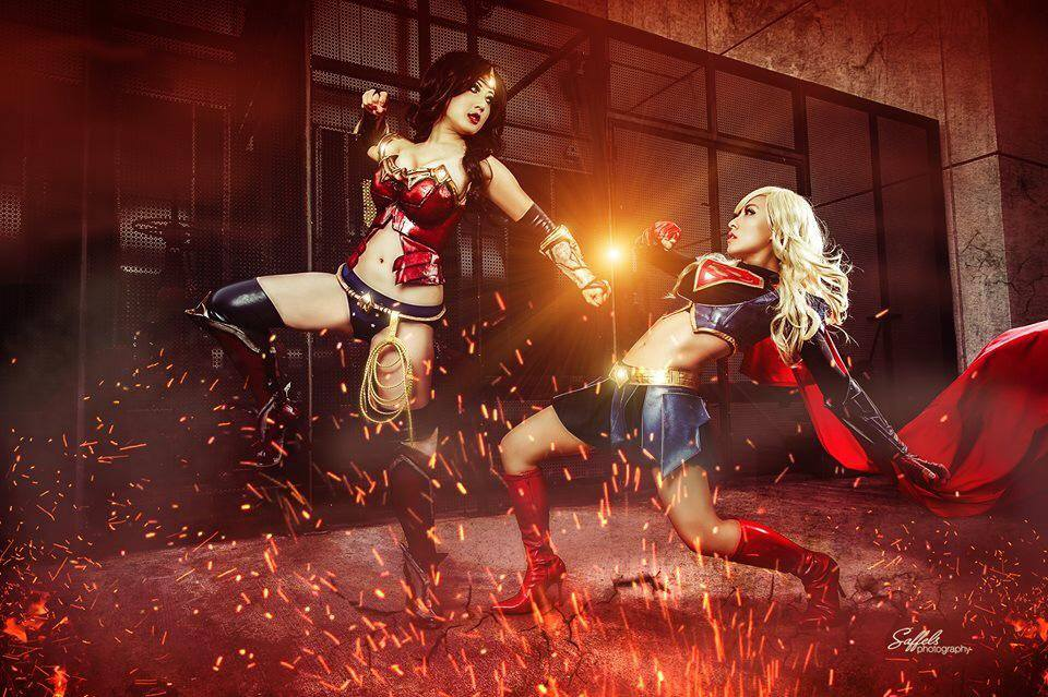 Wonder Woman vs. Super Girl - Saffles Photography