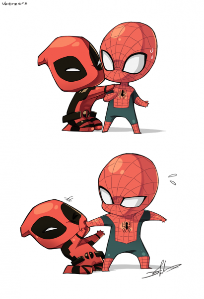 spider_man_and_deadpool_by_uberzers-d5ec4oa
