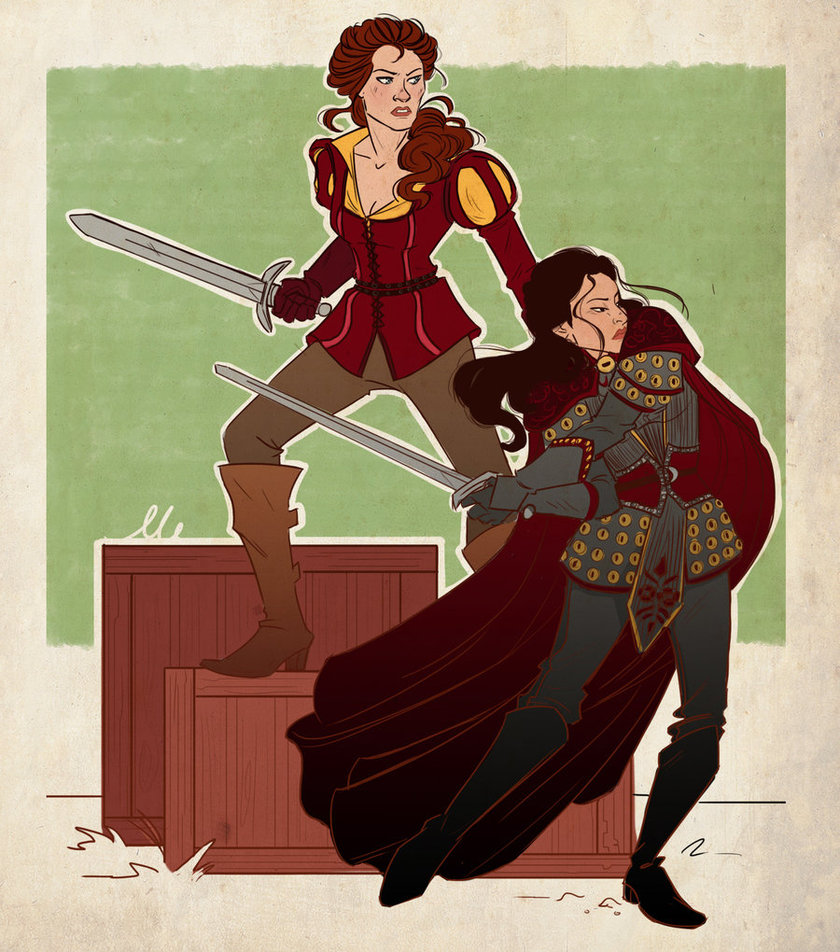 once_upon_a_time___warrior_belle_and_mulan_by_thatmadgray-d5qxikf